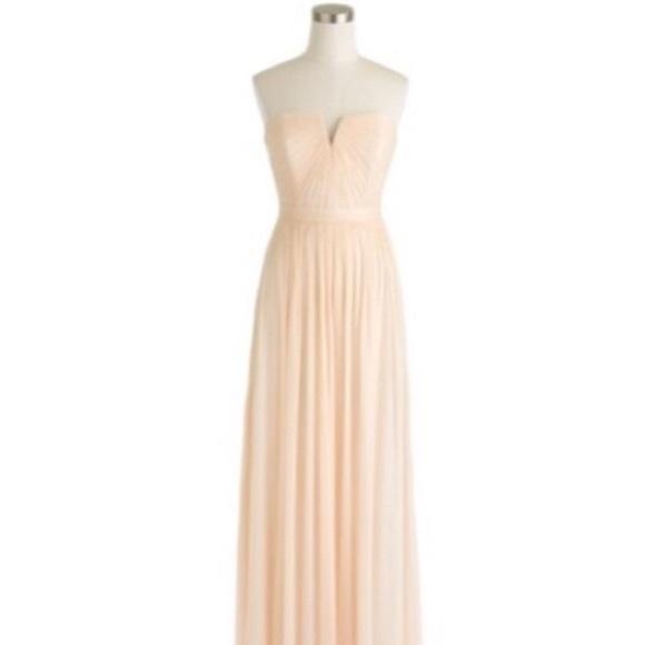 01e62667c38c J. Crew Dresses   J Crew Silk Chiffon Nadia Dress In Champagne ...